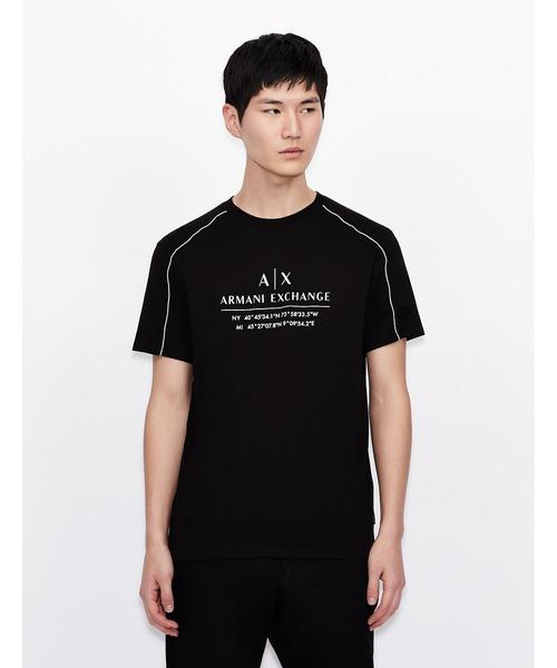 【A|X アルマーニ エクスチェンジ】ロゴ 半袖クルーネックTシャツ/ジャージーカットソー