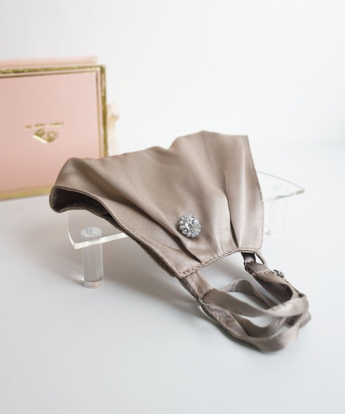 【母の日】BOX付シルク立体マスク&マスクピアスセット