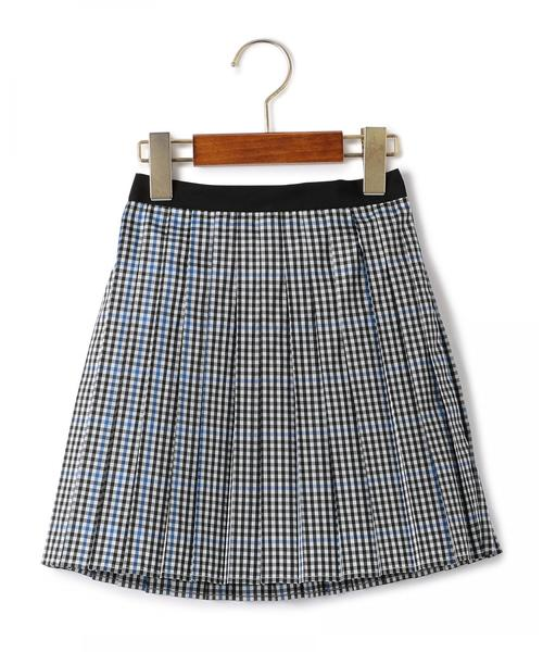 【キッズ】ギンガム プリーツ スカート ◆