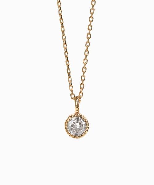 【最安値挑戦!】 cui-cui[キュイキュイ]K18YG 一粒シャンパンダイヤモンド ネックレス, 住宅専門金物卸販売 キザイ本舗 a49abd1d
