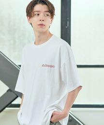 ▽WEB限定 Kappa/カッパ 別注 ビッグシルエット ロゴフロント&バックラバープリント半袖Tシャツホワイト