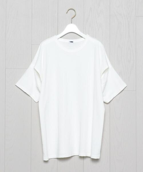 <H>SLIT SLEEVE T-SHIRT/Tシャツ