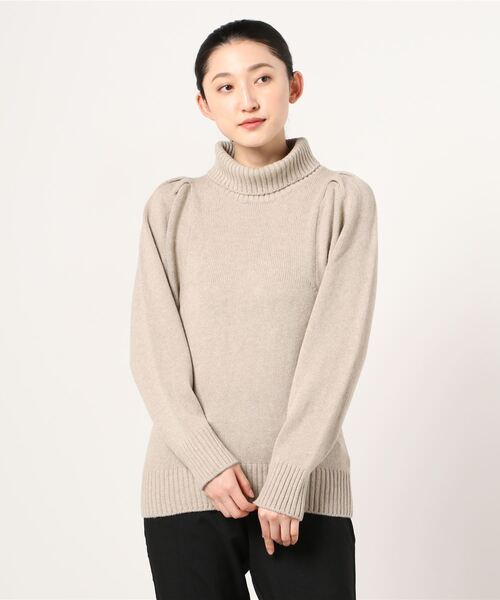 Sustainable atmos pink / PUFF SLEEVE HI-NECK