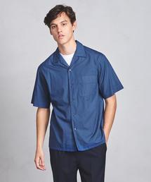 UAST ソリッド オープンカラー シャツ ◆