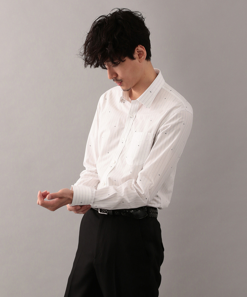 【LOVELESS】スパイダーストライプミニカラーシャツ