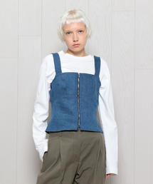 <rag & bone>PAULA DENIM BUSTIER/ビスチェ.