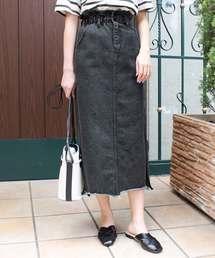 MODE ROBE(モードローブ)のウエストギャザースカート(デニムスカート)
