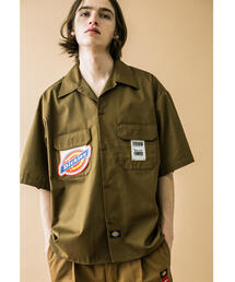 <Dickies × monkey time> CROPPED WORK SHIRT SS/クロップドシャツ