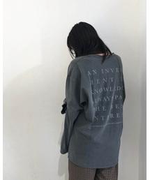 """TODAYFUL(トゥデイフル)のTODAYFUL(トゥデイフル) """"Backprint Long T-Shirts""""バックプリントロゴTシャツ/11920607(Tシャツ/カットソー)"""