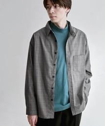 オーバーサイズTRストレッチレギュラーカラーシャツ L/S(MONO-MART)2021SPRINGグレー系その他