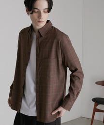 オーバーサイズTRストレッチレギュラーカラーシャツ L/S(MONO-MART)2021SPRINGブラウン系その他
