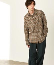 オーバーサイズTRストレッチレギュラーカラーシャツ L/S(MONO-MART)2021SPRINGベージュ系その他