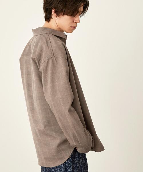 オーバーサイズTRストレッチレギュラーカラーシャツ L/S(MONO-MART)