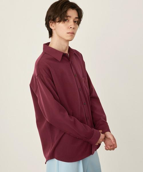 オーバーサイズTRストレッチレギュラーカラーシャツ L/S