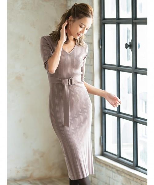 超人気 【セール】ランダムリブベルテッドニットワンピース(ワンピース) AMBIENT(アンビエント)のファッション通販, エクステリアストック:5d6a830d --- 5613dcaibao.eu.org