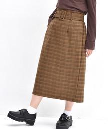 RETROGIRL(レトロガール)のフェイクウールチェックナロースカート(スカート)
