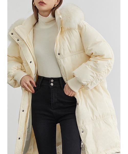 【Fano Studios】【2021AW】Faux fur long down coat FD20Y029