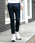 MR.OLIVE | SUPER STRETCH DENIM / ONE WASH ANKLE CUT SLIM PANTS(デニムパンツ)