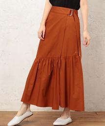 CF コットン ティアードラップ スカート ◆