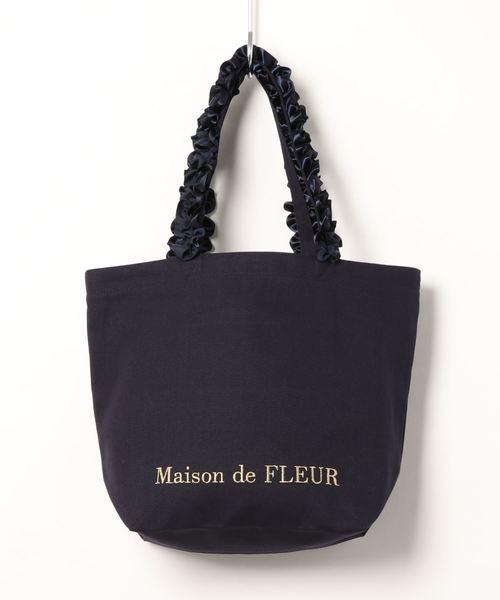 90d631106bb8 Maison de FLEUR(メゾンドフルール)のフリルハンドルトートMバッグ(トートバッグ