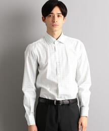 [アルビニ]ALBINI ウィンドーペン ショートWD シャツ /ドレスシャツ