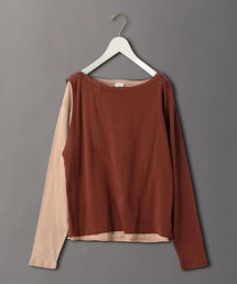 <6(ROKU)>KASANE LONG SLEEVE TOPS/カットソー