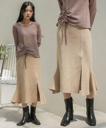 UNE MANSION(ユヌマンション)のスリットマーメイドラインニットスカート(スカート)