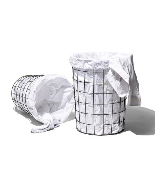 WIRE BASKET W/PLAIN LAUNDRY BAG Large