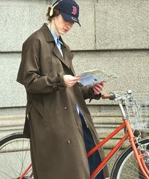 TRストレッチ オーバーサイズ ヨークトレンチコート/スプリングコート EMMA CLOTHES 2021S/Sブラウン系その他