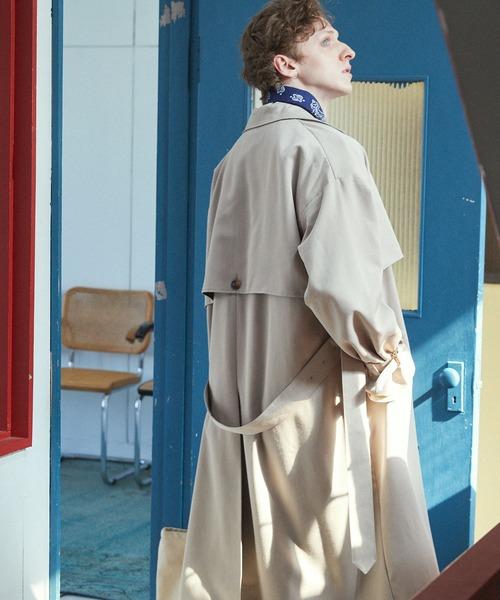 TRストレッチ オーバーサイズ ヨークトレンチコート/スプリングコート EMMA CLOTHES 2021SPRING