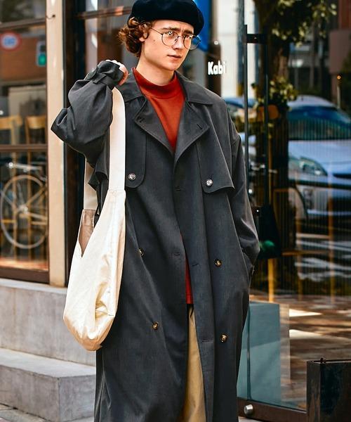 TRストレッチ オーバーサイズ ヨークトレンチコート/オーバーコート 2021-2022WINTER(EMMA CLOTHES)