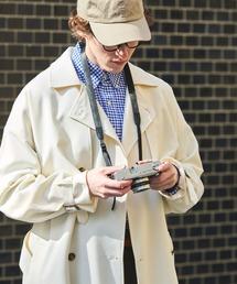 TRストレッチ オーバーサイズ ヨークトレンチコート/スプリングコート EMMA CLOTHES 2021S/Sアイボリー