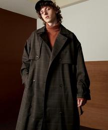 TRストレッチ オーバーサイズ ヨークトレンチコート/スプリングコート EMMA CLOTHES 2021S/Sブラウン系その他2