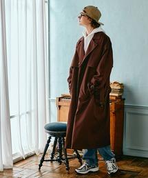 TRストレッチ オーバーサイズ ヨークトレンチコート/オーバーコート 2021-2022WINTER(EMMA CLOTHES)ブラウン系その他3
