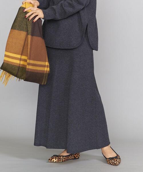 BY 7ゲージ フレアニットスカート