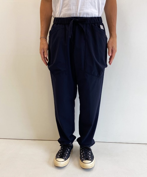NUMBER (N)INE(ナンバーナイン)の「LIGHT WEIGHT STRETCH PATCH POCKET WIDE TAPERED EASY PANTS(その他パンツ)」 ネイビー