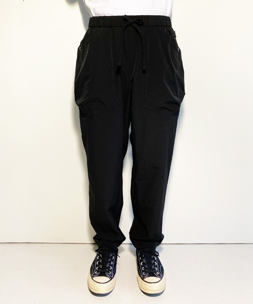 NUMBER (N)INE(ナンバーナイン)の「LIGHT WEIGHT STRETCH PATCH POCKET WIDE TAPERED EASY PANTS(その他パンツ)」 ブラック
