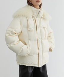 【Fano Studios】【2021AW】High neck hooded down jacket FD20Y030オフホワイト