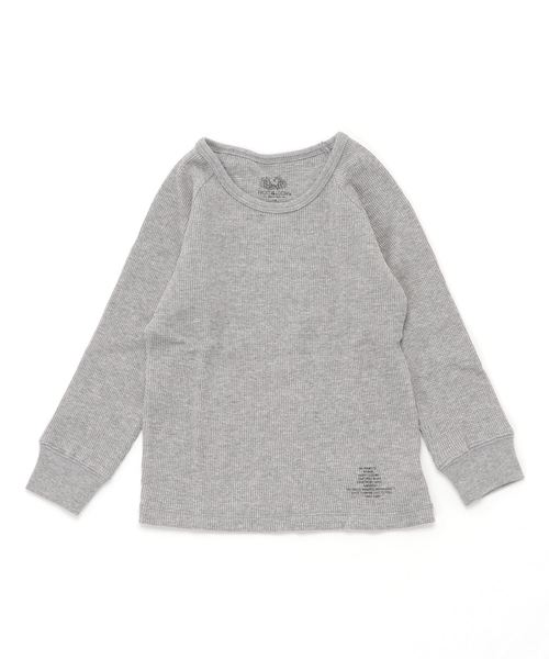 Smoothy Smoothy×FRUIT OF THE LOOM Collaboration Thermal raglan Long Tee / スムージー スムージー×フルーツオブザルーム コラボ サーマルラグランロングTシャツ