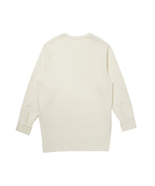 【OOD】ユニセックス ベルクロ ディテール ロング スリーブ ティーシャツ