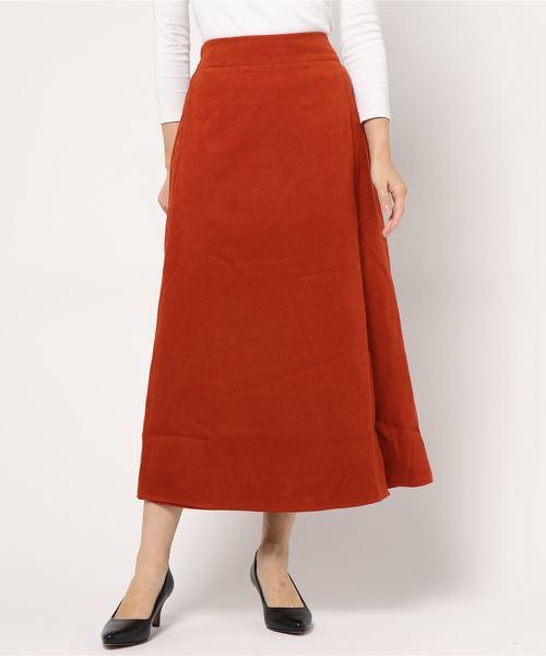 スエードライクラップスカート