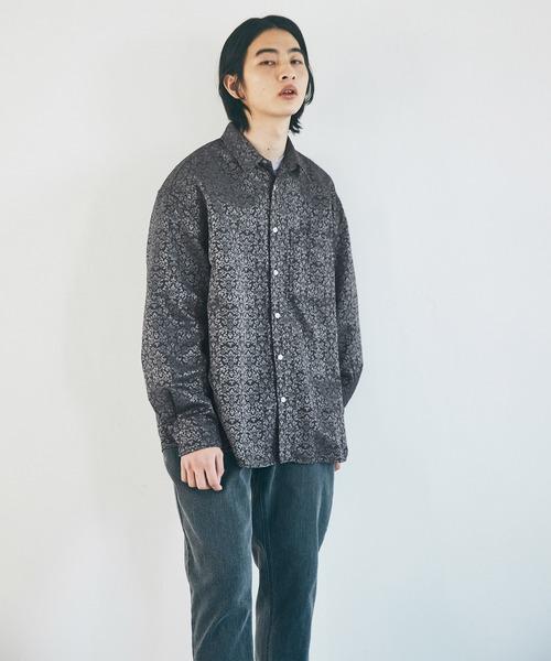 オーバーサイズ花柄ジャガードL/Sシャツ EMMA CLOTHES 2021 AUTUMN