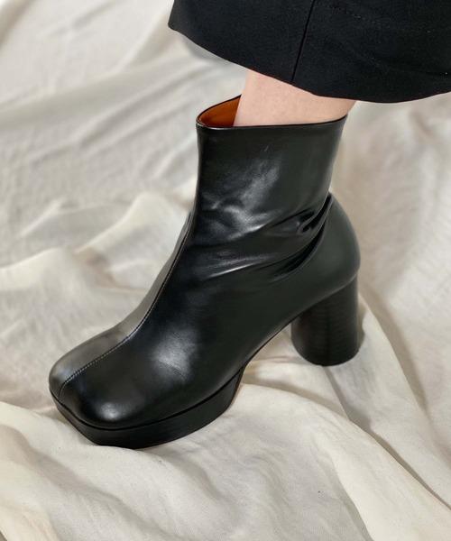 【chuclla】【2021/AW】Round block-toe boots chs21a001