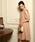 Luxe brille(リュクスブリエ)の「袖タックレース使いAラインフレアーワンピース(ドレス)」|ベージュ