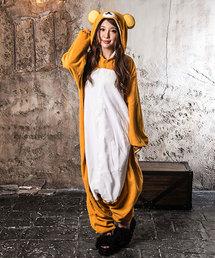[costume/コスチューム]リラックマ フリースなりきり全身着ぐるみ ハロウィン・コスプレ・パーティー衣装(コスチューム/パーティーグッズ)