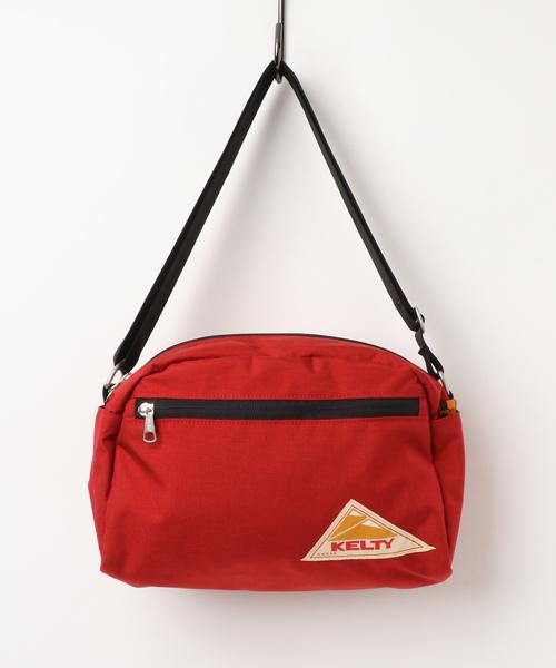 KELTY(ケルティ)の「【KELTY/ケルティ】ナイロンポーチ ラウンドトップショルダーバッグM / ROUND TOP BAG M(ショルダーバッグ)」|レッド