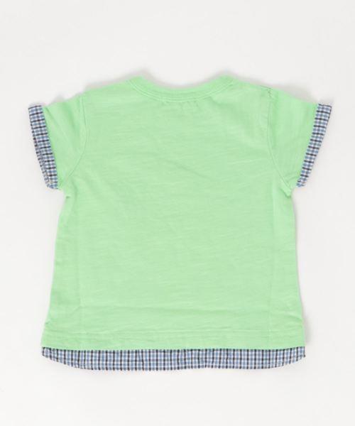 レイヤード風Tシャツ ベジタブル
