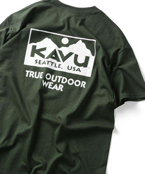▽WEB限定 KAVU/カブー True ロゴ 半袖Tシャツ