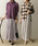 URBAN RESEARCH(アーバンリサーチ)の「プリーツギャザーリバースカート(スカート)」|パープル系その他