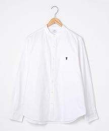 オックスフォードバンドカラーシャツ